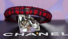 CHANEL 13A Paris Edinburgh TWEED Bangle Bracelet CC Logos M Tartan Plaid LIMITED