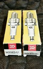 QTY 2, W20ES-U ND SMALL ENGINE SPARK PLUGS, New Old Stock,  Two
