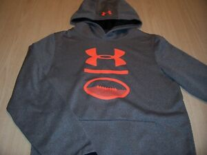 UNDER ARMOUR COLDGEAR LOOSE LS GRAY HOODIE BOYS LARGE 14-16 EXCELLENT