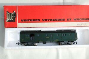 JOUEF HO 1/87 -  FOURGON A BAGAGES SNCF AVEC FEUX ROUGES (ref. 5420) EN BOÎTE