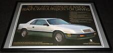 1987 Chrysler LeBaron Framed 12x18 ORIGINAL Advertisement