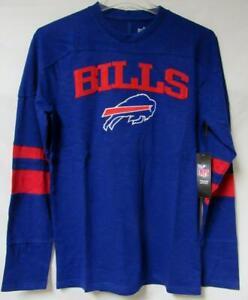 Buffalo Bills Mens Size M L 2XL or 3XL Long Sleeve Embroidered T-Shirt B3 1