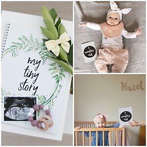 Gift for Baby Shower - Milestone Cards - Baby Journal - Unisex Baby Gift