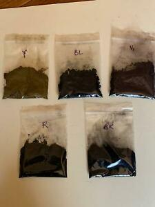 Original Sandoz Anodising Dyes - Black, Red, Blue, Violet, Yellow (Pack of 15g)