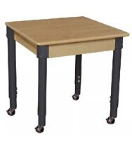 "Wood Designs Wd824A1829C6 Mobile 24"" Square Table with 20""-31"" Legs(seedetails="