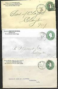 US Vintage 3 -19th CENTURY COVERS (NO LETTERS) OVER 130 YEARS SEE SCAN