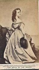 """1865 CDV """"The Belle of the Season"""" carte de viste album filler sepia picture"""