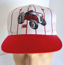 8N Ford Tractor Hat Mens Snapback Farmer Nissin Cap Baseball Lid Farm Red White