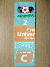 Ticket 1986 World Cup in Mexico at Estadio Universitario Monterrey