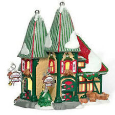 Department 56 North Pole Village Reindeer Stables Dasher Dancer Villlage
