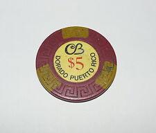$5 CERROMAR BEACH CB CASINO DORADO PUERTO RICO