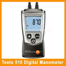 TESTO 510 DIFFERENTIAL MANOMETER 0 TO 100 MBAR PRESSURE METER GAUGE (0560 0510)