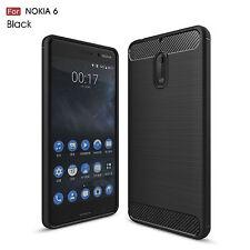 Handy Hülle für Nokia 6 Case Schale TPU dünn schwarz + Armour ! 5,5 Zoll Nokia6