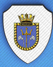 HMS WESTCOTT WALL SHIELD
