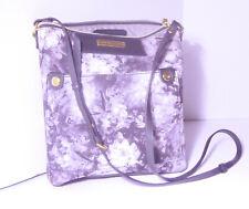 Beautiful, Mauve Flowered Adrienne Vittadini handbag with Long Strap
