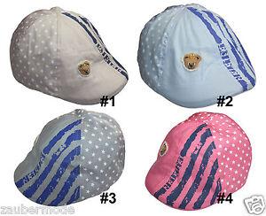 Jungen Mädchen Baskenmütze Schirmmütze Schiebermütze Mütze Stern Bär KU 48-50 cm