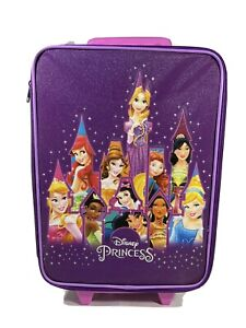 Disney Parks Disney Princess Purple Luggage Carry On Rolling Suitcase Trolley