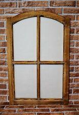 Deko Fensterrahmen braun H 77 cm Sprossen Holzfenster Landhaus Dekofenster