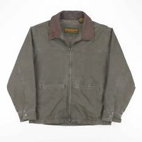 Vintage TIMBERLAND WeatherGear Green 90s Cotton Casual Outdoor Jacket Mens M