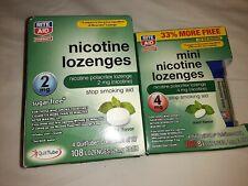 Rite Aid Nicotine Loz. Sugar Free 2 mg Mint 108 Ct. Exp.5/19 & Mini loz exp7/19
