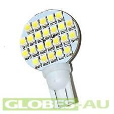 2x 12V LED T10 COOL WHITE 24 SMD Lamp Bulb Light Wedge Globe Tent Garden Jayco