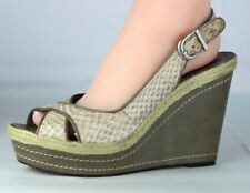 Vince Camuto Estera women's pump wedge heels sandals snake leather size 10B