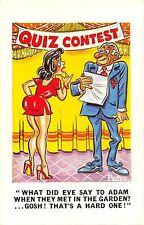 POSTCARD   COMIC  SUNNY  PEDRO  Series  No  206   Pretty  Girl     Quiz