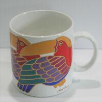 Taco Toucans Coffee Mug Tea Cup Laurel Burch Red Blue Metallic 16 oz