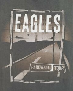 Eagles Farewell Tour 2005 T-shirt Men's L Double Sided Graphic Concert Tee A06