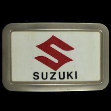 Vtg 70s NOS Suzuki Motorcycle Dirtbike Off Road Enduro Xcross Rider Belt Buckle