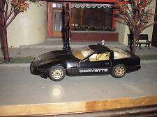 Nice 1/24 Vintage Diecast Majorette 1980's Chevy Corvette Black w white interior