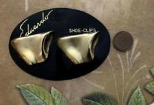 Vintage 27 x 41mm Eduardo Gold Tone Metal Shoe Clips