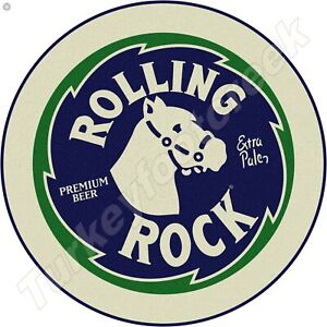 "ROLLING ROCK BEER 11.75"" ROUND METAL SIGN"