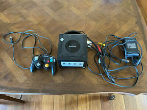 Nintendo Gamecube Black Used With One Controller And 1019 Block Memory Card