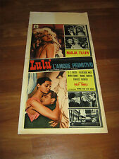 LOCANDINA,Lulù l'amore primitivo,1962,Rolf Thiele,NADJA TILLER, O.E. HASSE,