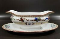 Antique NORITAKE Lazarre Gravy Boat with attached Underplate, Excellent