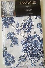Envogue 2 Floral Window Panels Curtains Drapes Paisley Garden Blue Gray New