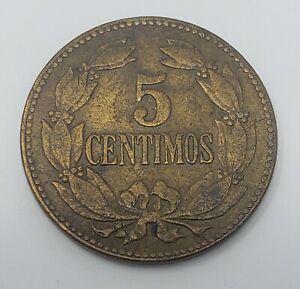1944 Venezuela 5 Centimos Brass