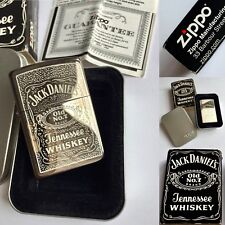 Boxed Unused Collectible 2003 Jack Daniels Zippo Lighter With Original Documents