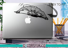 SPIDERMAN MacBook adesivi in vinile nero | Adesivo Laptop MacBook Decalcomania MARVEL