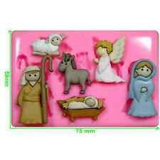 School Nativity Scene Christmas Silicone Mould by Fairie Blessings