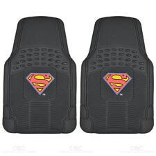 Rubber Front Car Floor Mats Superman Set Gift Pack Warner Bros Logo Pair