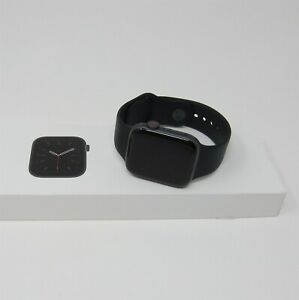Apple Watch Series 4 GPS LTE Cellular 44mm Space Gray Aluminum Sport Band Black