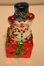 Christmas Christopher Radko Snowman Candy Box Bright Showman