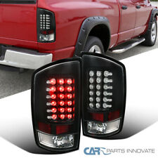 For Dodge 07-09 Ram 1500 2500 3500 Black LED Tail Lights Brake Lamps Left+Right