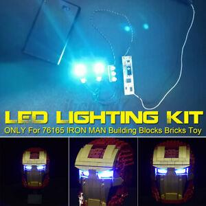 Optics Sensor LED Light Lighting Kit ONLY For 76165 IRON MAN Bricks Toy