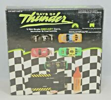 1990 Days of Thunder 5 Car Set 1:64 Die Cast Race Cars, Launcher & Fuel Bottle.