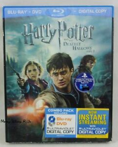 Harry Potter and The Deathly Hallows Part 2 Blu-Ray, DVD & Digital W/Slip Cover