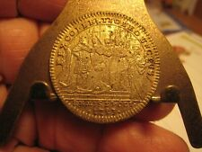 1723 GOLD CLAD  FRENCH CORONATION- 28MM RARE TOKEN