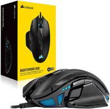 CORSAIR - NIGHTSWORD RGB FPS/MOBA Wired Optical Gaming Mouse - Black